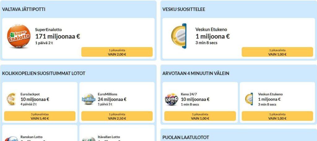 Kolikkopelit.com Lotto ja Keno