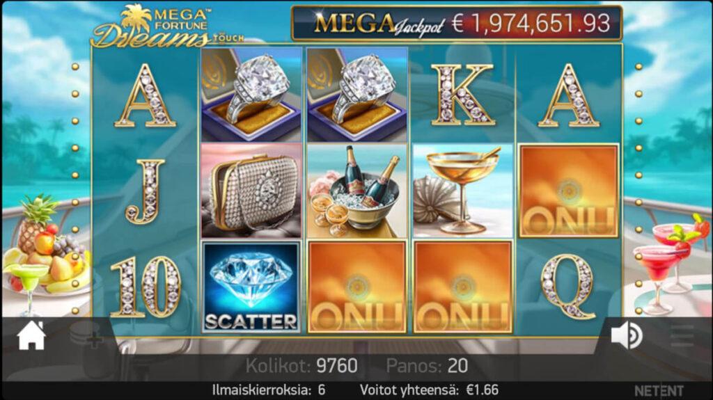 Mega Fortune Dreams pelinäkymä