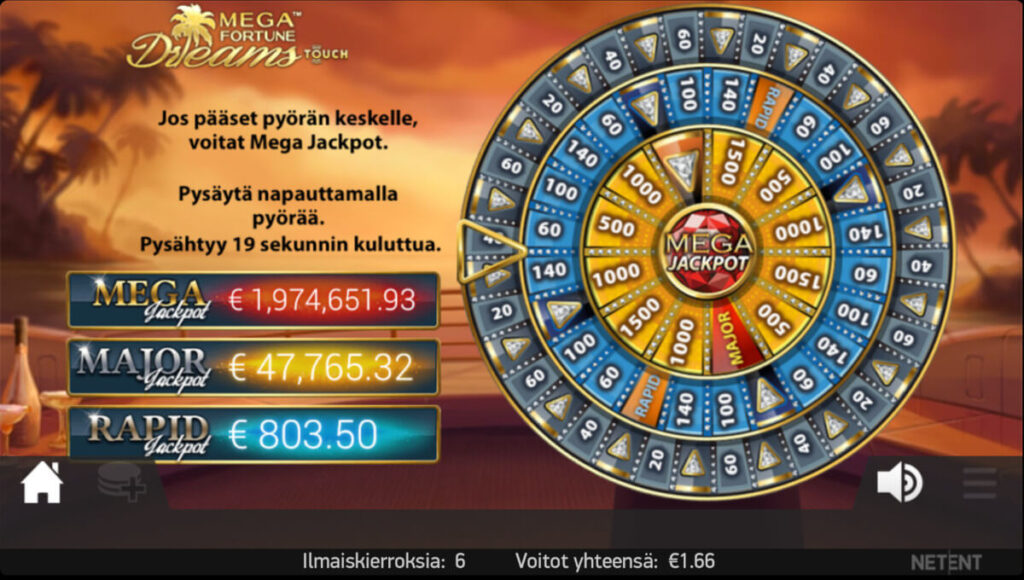 Mega Fortune Dreams Bonuspeli
