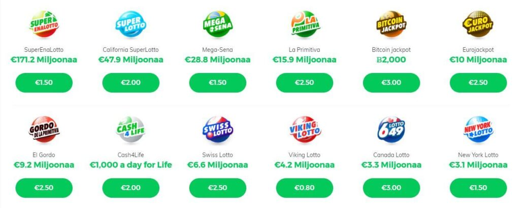 nettikasino lottopeli valikoima