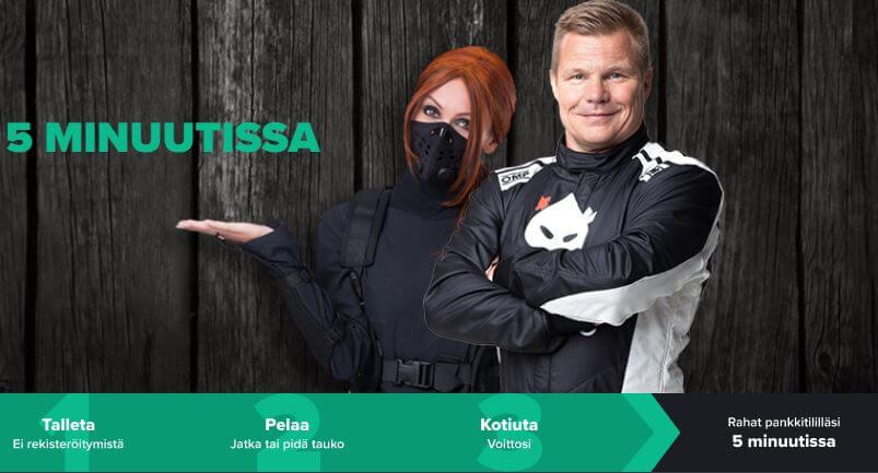 Formulakuski Mika Salo ja Ninja