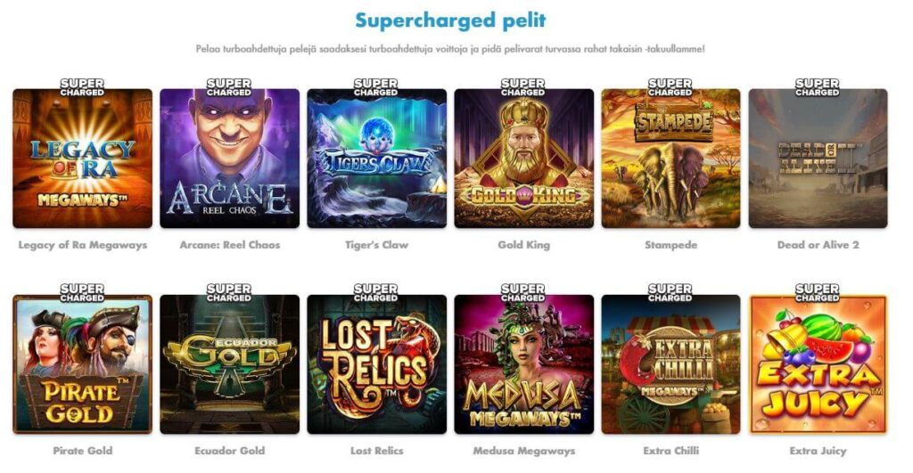 Slotty Vegas Supercharged pelit