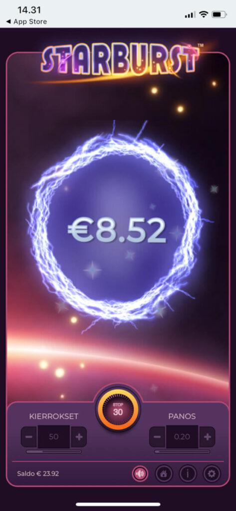 Starburst kolikkopelin Blitz versio