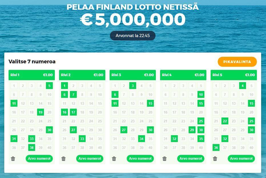 Finland lotto nettikasinolla