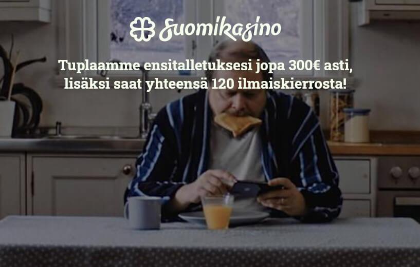 suomikasino tarjous