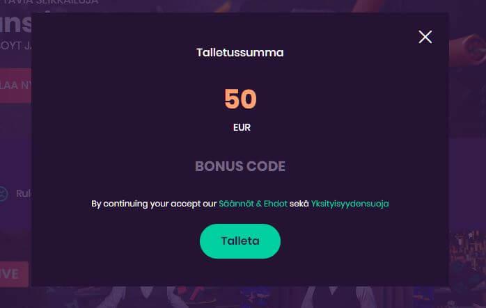 turbico kasinon talletus bonus