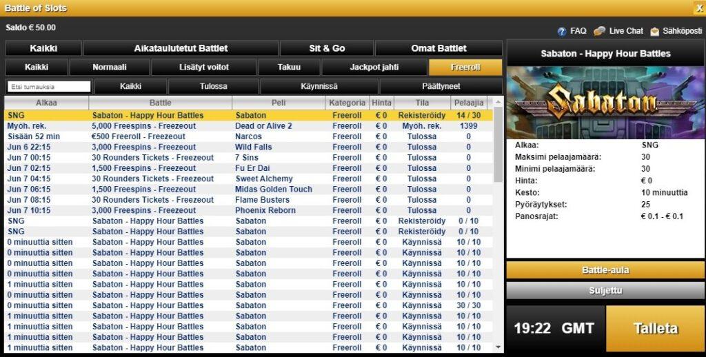 Video Slots casinon turnaukset
