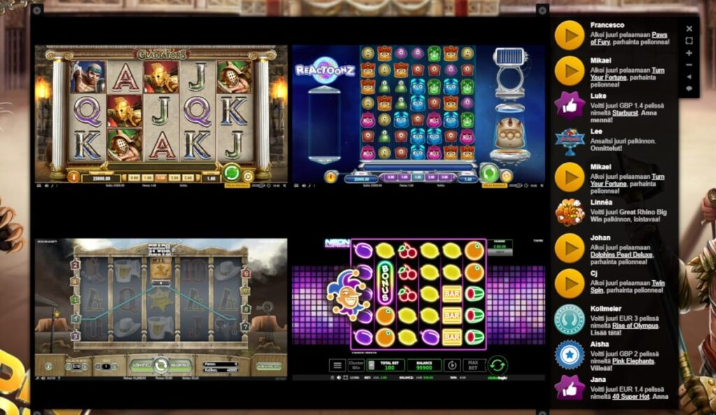 Videoslots split screen kolikkopeli