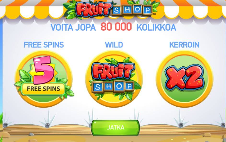 fruit shop kolikkopeli