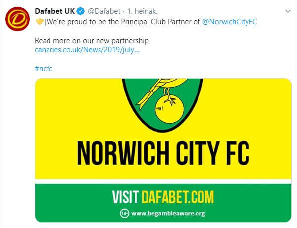 norwich dafabet