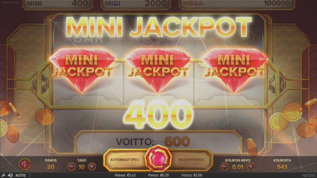 mini jackpot grand spinn kolikkopeli