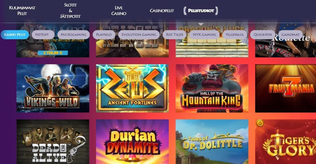 casino gods kolikkopelit