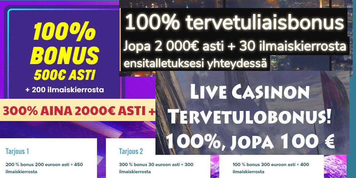 kasino bonus kierrätys
