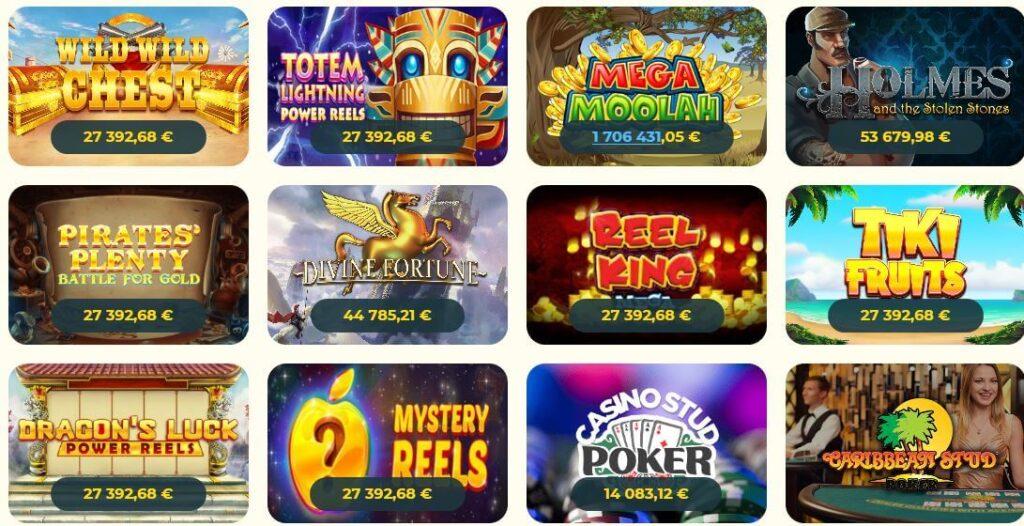 Kassu kasinon jackpotit
