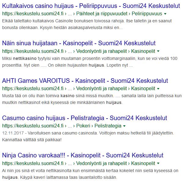 suomi24 nettikasino huijaus