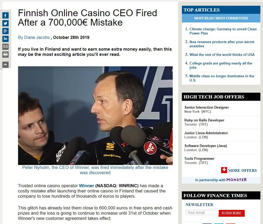 huijaussivusto netissä casino winner virhe