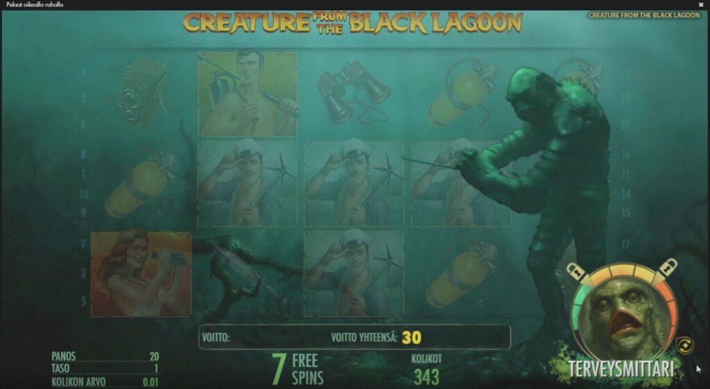 netent peli creature from the black lagoon