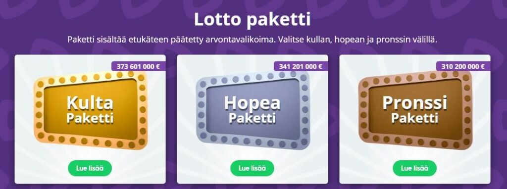 lotto netissä paketit