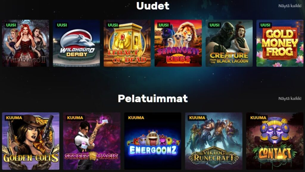 rocket casino pelit