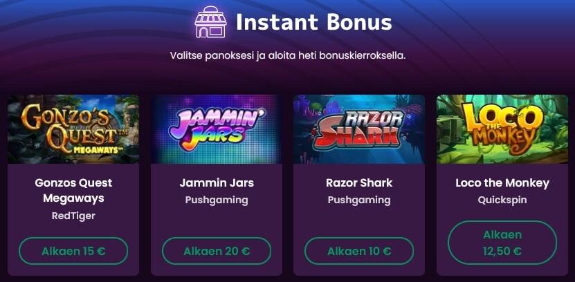 bonusostot boom casinolla