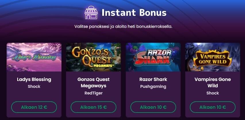 boom casino instant bonus