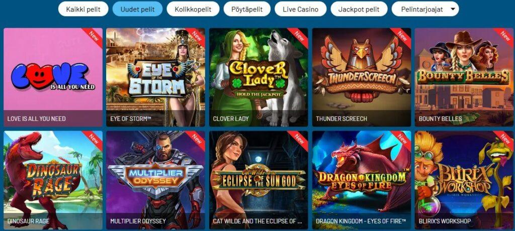 refuel casinon pelivalikoimaa