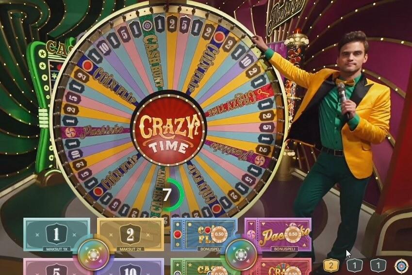 crazy time onnenpyörä casinolla