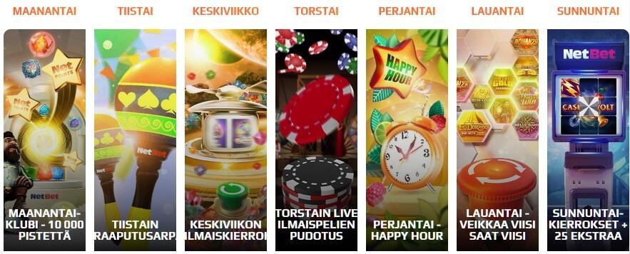 netbet tarjoukset kalenteri